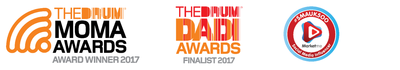 The Drum's MOMA winner 2017, DADI finalist 2017 & Top 500 Social Media Agency UK